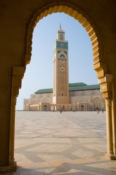 Hassan II Mosque, Casablanca, Morocco. Although I couldn't go inside, (you need to be Muslim, take off your shoes, etc.) the insides are beautiful and you can take a few pics from the outside. AML