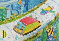제 26회 대한민국 어린이 푸른나라 그림대회 수상작  ▶수상분야고학년 은상 ▶수상자명 김원준 (신능초등학교 6학년) ▶심사평 지금도 가능할 듯한 물속의 투명한 터널을 달리는 친환경 자동차이군요. 물방울의 실감나는 묘사로 물속 세상을 매력 있게 표현하고 있습니다. #hyundaimotorgroup #hyundai #kidshyundai