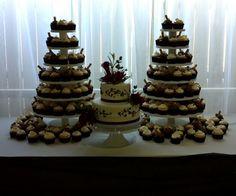Cupcake tree Cupcake Tree, Wedding Cakes, Cupcakes, Desserts, Diy, Food, Wedding Gown Cakes, Tailgate Desserts, Cupcake Cakes