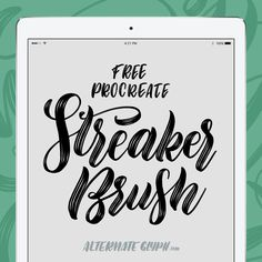 Streaker Brush for Procreate iPad Lettering and Calligraphy
