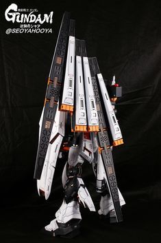 Neo Grade Nu Gundam - Customized Build Modeled by Seoyahooya Gundam Model, Grade 1, Frame Arms, Mobile Suit, Robots, Building, Goodies, Childhood, Universe