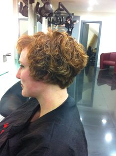 Bob. From the nape of the neck back, this is perfect. Love. I want the rest like the shaggy angled bob.