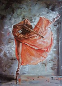 "Buy "" DANCER... ""- ballerina liGHt  ORIGINAL OIL PAINTING, GIFT, PALETTE KNIFE, Oil painting by Monika Luniak on Artfinder. Discover thousands of other original paintings, prints, sculptures and photography from independent artists."