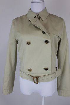 Burberry Authentic Womens Tan Cropped Trench Coat Size 6 8 | eBay   Perfect for this time of year!