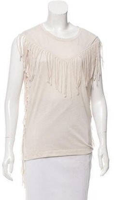 Iro Ganael Fringe Short Sleeve Tunic Outlet Geniue Stockist Sale Amazing Price Ij1lGabMCN