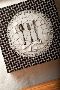 Creative Company | Net Mosaïek: Die Groot Glips Creative Company, Mosaic Crafts, Craft Projects, Kitchen, Cucina, Cooking, Kitchens, Stove, Cuisine