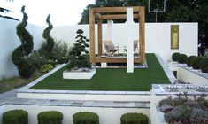 Medium size of contemporary garden design ideas for small gardens modern landscape examples decorating agreeable cube Simple Landscape Design, Contemporary Garden Design, Garden Design London, Small Garden Design, Modern Landscaping, Garden Landscaping, Plantation, Interior Exterior, Small Gardens