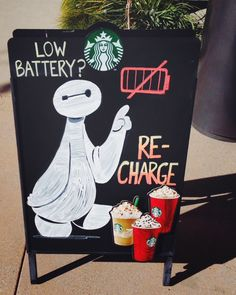 Cute Starbucks sign with Baymax