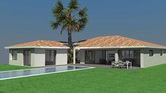 Maison contemporaine de plain pied avec patios laissant pénétrer la végétation à l'intérieur de la maison - Architecte Atelier Scénario