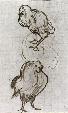 Vincent van Gogh: Sketches of a Hen and a Cock Auvers-sur-Oise: June-July, 1890 (Amsterdam, Van Gogh Museum)