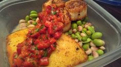 5 days left to win meal prep in Kansas City or Wichita | Friend That Cooks Blog    Go to our Facebook page to enter. www.facebook.com/ftcchefservice     The lucky winner will get one of our personal chefs at their home to prep and entire week of meals to reheat, like this dish:     Pan seared scallops and toasted polenta with roasted pepper relish and citrus beans and peas. No cans, no preservatives, no sugar, little salt and a LOT of flavor!     www.friendthatcooks.com