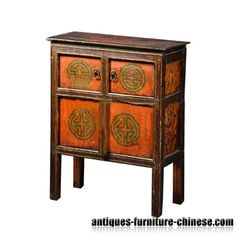 Custom Furniture Tibetan Furniture Night Stand GJf 1158 Tibetan Furniture    Www.chinesefurnitureshop.
