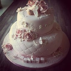 Det Lille Bakeriet: Vakker kake til barnedåp Cake, Desserts, Pie Cake, Pastry Chef, Pies, Tailgate Desserts, Pie, Deserts, Cakes