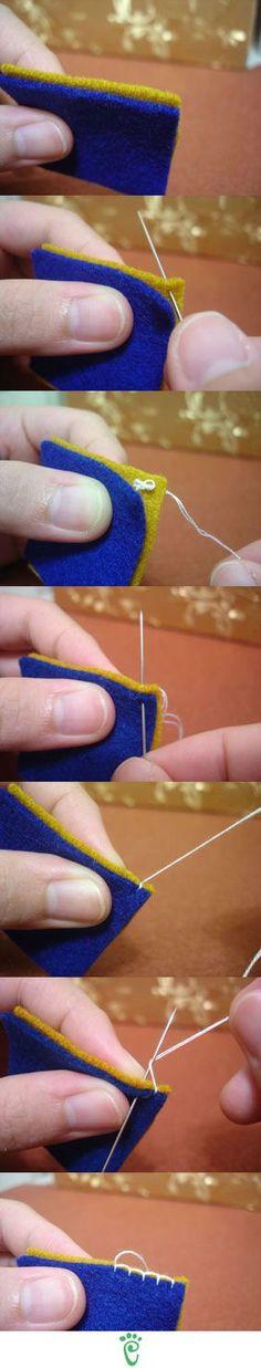 Puntadas para unir dos telas