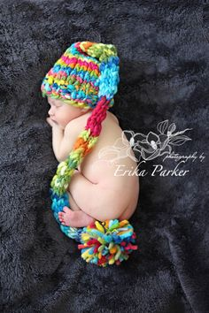 NEWBORN Photography Prop  Baby Knit Hat  Twin by knitwitwoolies,