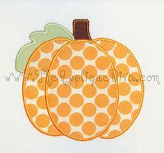 Fall Panel Pumpkin Digital Embroidery Machine by theappliquediva, $2.99