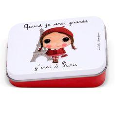 """Boîte à bons points """"Quand je serai grande, j'irai à Paris"""" - Le Coin des Créateurs #isabellekessedjian #boiteabonspoints #boitemetal #princesse"""