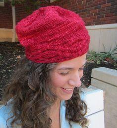 Cinnamony Hat by Beverly S.   malabrigo Silky in Ravelry Red