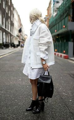 There's nothing as refreshing as styling an outfit full with some cool Winter white items!