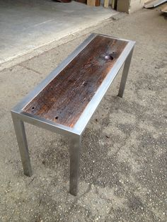 Reclaimed Wood and Steel Coffee Table by JACustomWorks on Etsy, $550.00