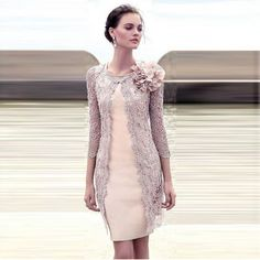 Find More Evening Dresses Information about Elegant Evening Dresses 3 4 Sleeves Sheer Short Evening Gowns 2016 Lace Evening Dress With Jacket Appliques Flower Custom Made,High Quality dress led,China dress patterns prom dresses Suppliers, Cheap dresses elderly from Charming Dress Factory on Aliexpress.com