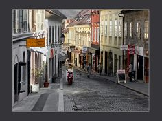 Down the cobbled street - Zagreb, Zagreb