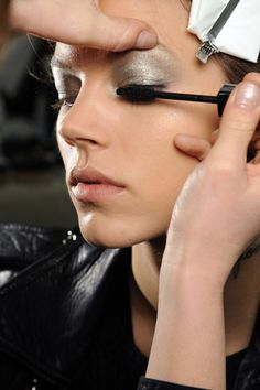 Fall 2011: backstage at Chanel RTW. Model: Freja Beha Erichsen.