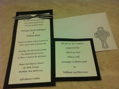 Check out TickledPinkTrinketsBoutique on Facebook for custom made wedding invitations and many other great things!!