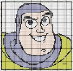 Various Toy Story cross stitch charts