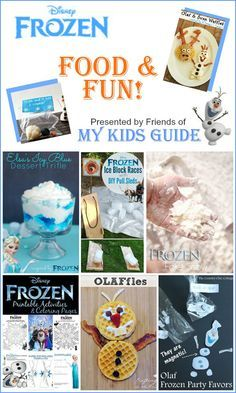 Fun Sleepover Themes | How To Make Cute And Funny Food & Craft Ideas From Disney's Frozen | By DIY Ready. http://diyready.com/15-fun-things-to-do-at-a-sleepover/