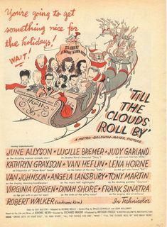 1947 JUNE ALLYSON LUCILLE BREMER CHRISTMAS REINDEER SLEIGH GARLAND  18339