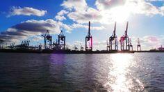 Container Hafen Hamburg Kräne #galaxycam