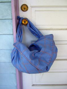DIY Two Minute Summer Furoshiki Bag--I think these would be great for wrapping lunches to take to a picnic, or even gift wrap!