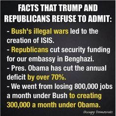 Facts the GOP refuse to admit, and far too few Democrats remember... Inform yourself!
