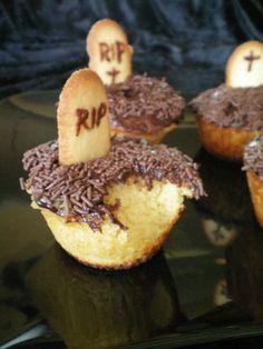 Cupcakes pour Halloween Moins de farine car trop sec