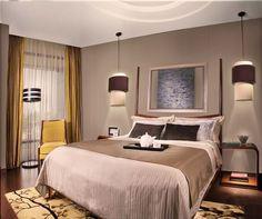 Master bedroom -love the drop lighting