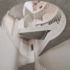 Top Gun Apartment Stairs designed by Elastico SPA. Stairs Architecture, Architecture Details, Interior Architecture, Contemporary Architecture, Italy Architecture, Top Gun, Open Basement Stairs, Stair Art, Concrete Stairs