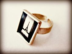 statement ring  Fall in Paris  adjustable by beYOUtifulhandmade, $20.00