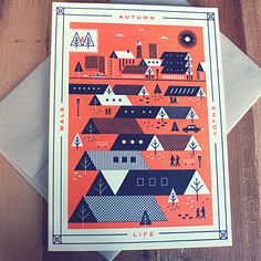 Enjoy Seasons Cards by Martín Azambuja, via Behance