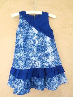 Kleider - Batik Kleid 'Suppacanja' royal blau - ein Designerstück von DakarKids bei DaWanda