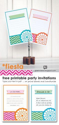 Birthday Invites Invitation or Menu Cards Free Printable Party Invitations, Printable Menu, Invitation Cards, Birthday Invitations, Free Printables, Invitation Templates, Menu Cards, Printable Coloring, Party Planning