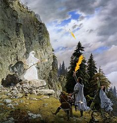 The Stranger in the Forest by Ted Nasmith