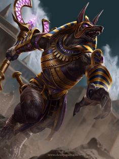 So I saw Smite has released my Anubis painting! I was pretty happy with this one! (c) Hi-rez studios SMITE: Anubis Tier 2 Osiris Tattoo, Anubis Tattoo, Fantasy Creatures, Mythical Creatures, Character Art, Character Design, Egyptian Mythology, Egyptian Goddess Tattoo, Egypt Art