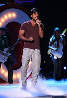 He's ready. Romeo Santos rehearses for the 2014 Premios Juventud awards on July 16 in Miami