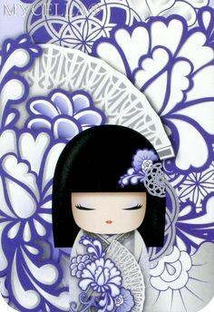 Geisha Art, Fan Anime, Japanese Artwork, Diamond Paint, Cross Stitch Art, Japanese Embroidery, Kokeshi Dolls, Cartoon Pics, Asian