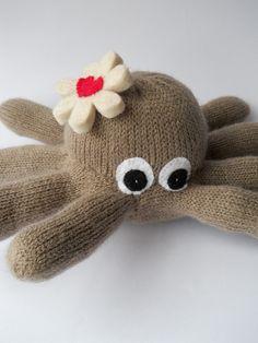 octopus plush animal glove animal sea by TreacherCreatures on Etsy, $15.00