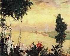 Country journey - Boris Kustodiev, 1918