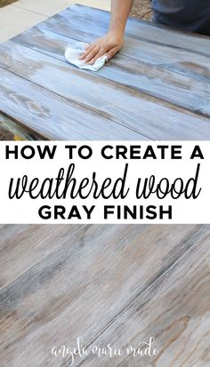 Distressing Painted Wood, Distressed Furniture Painting, Weathered Furniture, Weathered Wood Stain, How To Whitewash Wood, Painting Wood Cabinets, Diy Wood Stain, Old Wood, Gray Wash Furniture