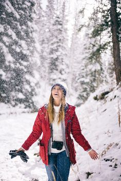 Gal Meets Glam - The First Sign of Snow, wearing a Penfield Jacket, J.Crew Sweater, BP Beanie, and AG Jeans