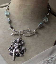 $156. SOLD to Tami vintage assemblage necklace by TheFrenchCircus